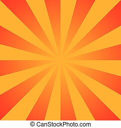 Abstract background of the shining sun-rays. Sun. Vector...