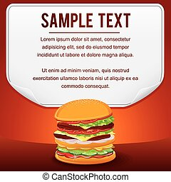 Fast Food Product Poster for Shop Design Sale Card