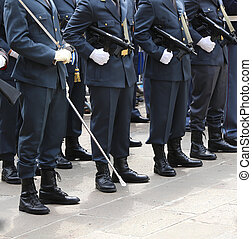 Italian financial police officers called Guardia di Finanza...