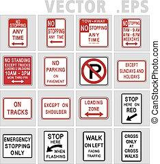 Traffic sign road. Illustration, Vector.