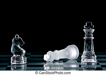 Chess - Strategic games; chess; victory during end game