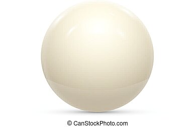 Billiard white ball isolated on a white background vector...