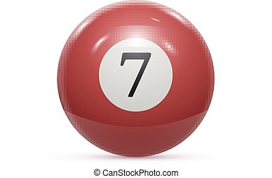 Billiard seven ball isolated on a white background vector...