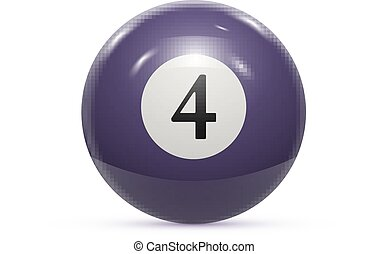Billiard four ball isolated on a white background vector...