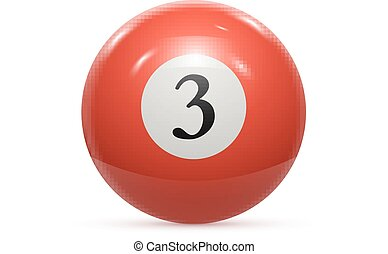 Billiard three ball isolated on a white background vector...