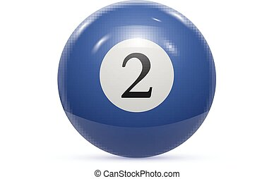 Billiard two ball isolated on a white background vector...