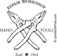 Vintage carpentry hand tools, repair service, labels and...
