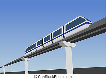 Monorail way - Monorail road above the earth.