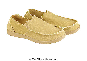 mens loafers - Modern mens loafers over white background