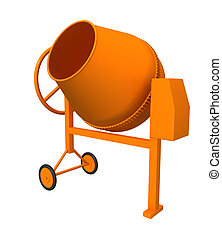 Concrete mixer - Three-dimensional model - a concrete mixer....