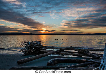 Pacific Northwest Sunset 9 - The sun sets over the Puget...