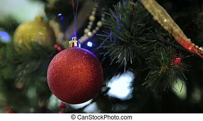 Christmas and New Year tree decoration, garland and toys....