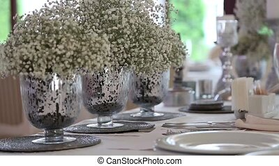 Wedding table and decoration