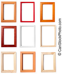 wooden frame background decoration - collection of wooden...