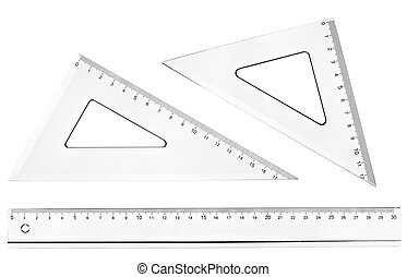 plastic ruler math geometry school education - collection of...