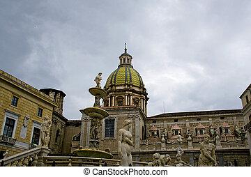 Piazza Pretoria, Palermo - Piazza Pretoria, o della...