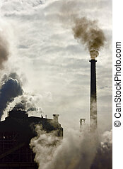 industrial polution - Pollution effect from industrial...