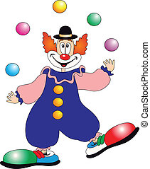 Clown vector on white background