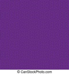 Classic meander seamless pattern. - Purple Classic meander...