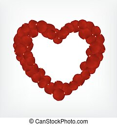 Rose petals heart-shape. Valentine's day background. EPS10...