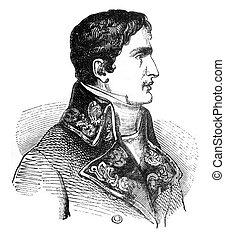 Lucien Bonaparte, vintage engraving. - Lucien Bonaparte,...