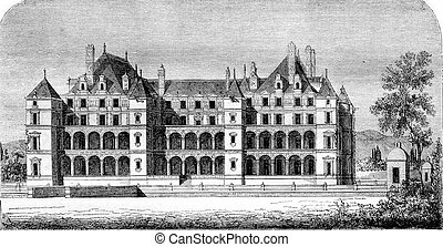 Chateau de Madrid in the Bois, demolished at the end of the...