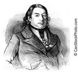 Dominique Jean Larrey, vintage engraving. - Dominique Jean...