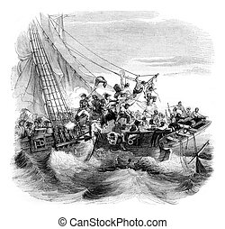Has taken the collision of the English schooner chance by...
