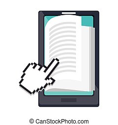 electronic book technology icon vector illustration design