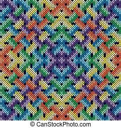 Seamless knitting intertwined pattern - Intertwining...