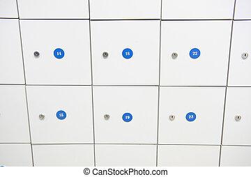 Open box in locker room