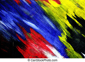 Strokes - Abstract painting. Colorful brush strokes.