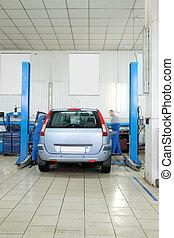 car repair station - Interior of a car repair station