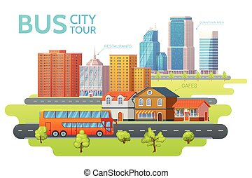 Colorful Sightseeing Tour Template - Colorful sightseeing...