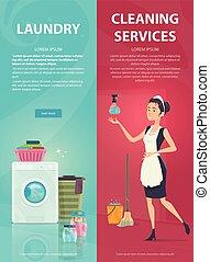 Housekeeping Vertical Banners - Housekeeping vertical...