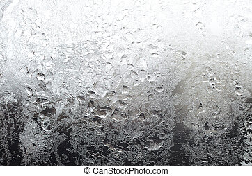 Icy Window Surface - Icy window surface with frostwork as a...