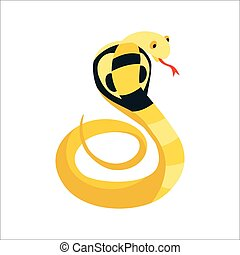 Snake cobra reptile cartoon vector