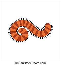 Cute Centipede animal cartoon character vector. - Cute...