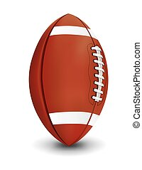 Realistic American Football Isolated on White Background Illustration