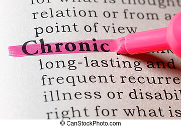 Dictionary definition of chronic