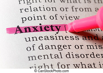 Dictionary definition of anxiety
