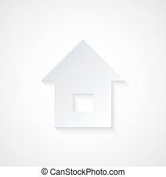 Abstract Paper Home Icon Vector