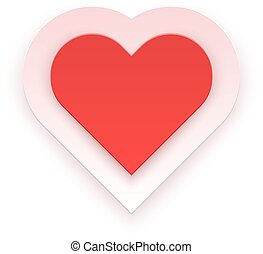 Red Heart Isolated on White Background Vector