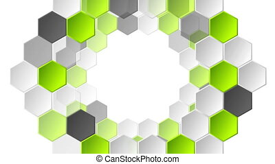 Abstract green grey geometric video animation - Abstract...