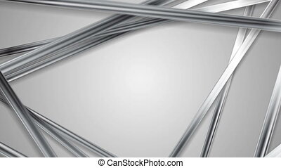 Abstract grey tech silver stripes video animation - Abstract...