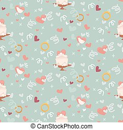 Wedding abstract seamless pattern in pastel soft colors.