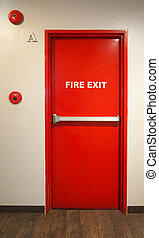 Emergency fire exit door.