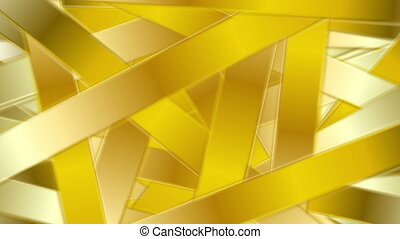 Golden abstract stripes luxury video animation - Golden...
