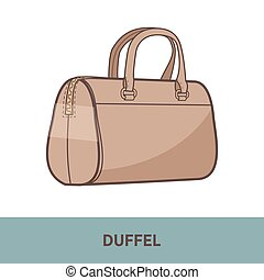 Vector fashion bag isolated on white - Modern fashion bag...