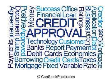 Crdit Approval Word Cloud - Credit Approval Word Cloud on...